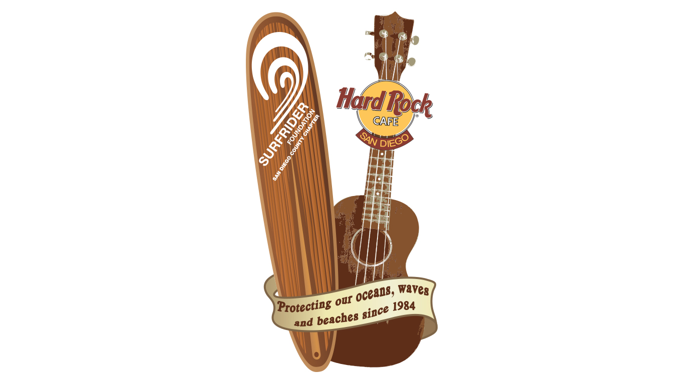 Hard Rock Café & Surfrider Foundation Signature Pin