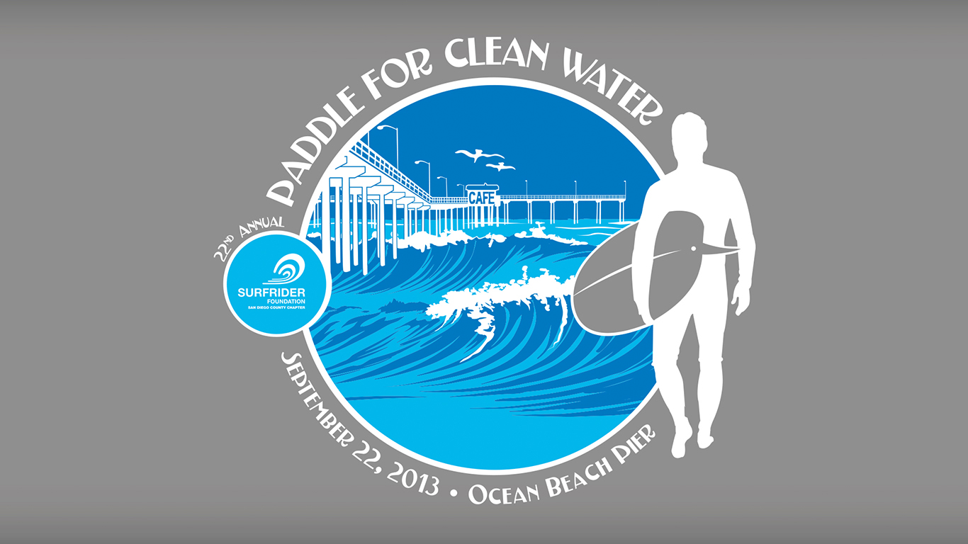 Paddle for Clean Water Logo