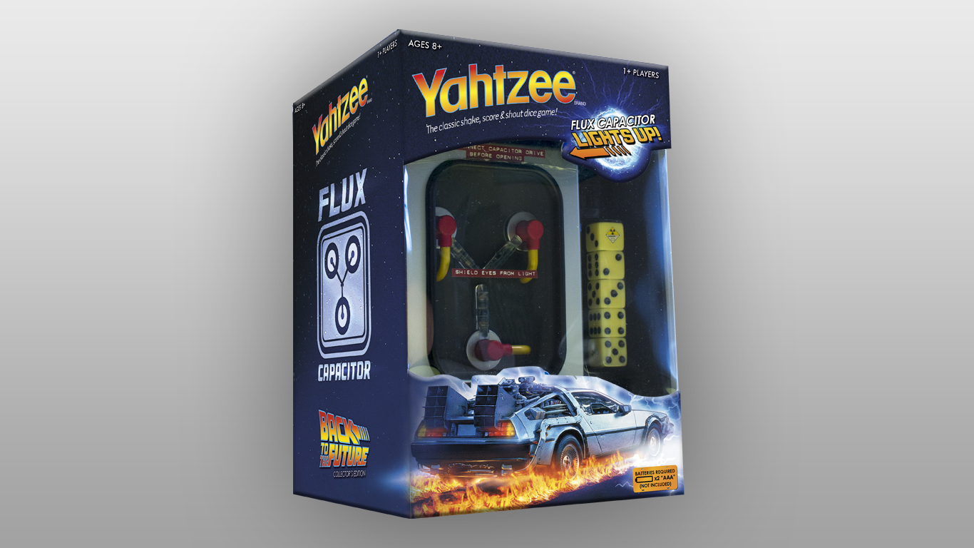 Back to the Future Yahtzee Box