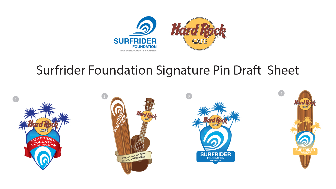 Hard Rock Café & Surfrider Foundation Signature Pin Draftsheet