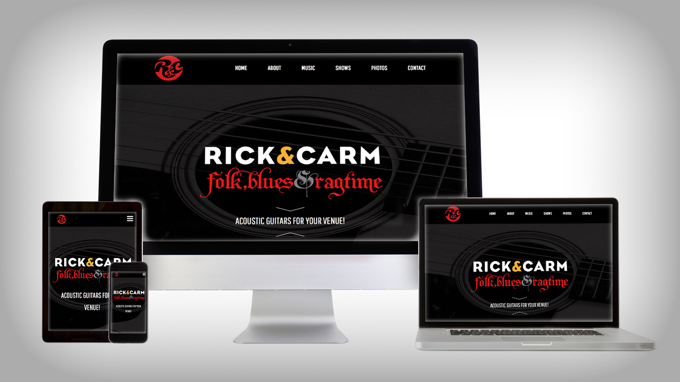 rick and carm website responsive