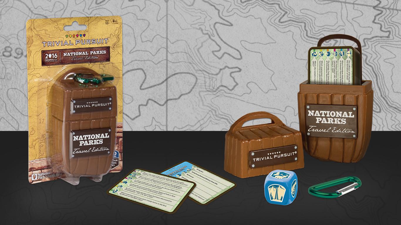 National Parks Trivial Pursuit Setup
